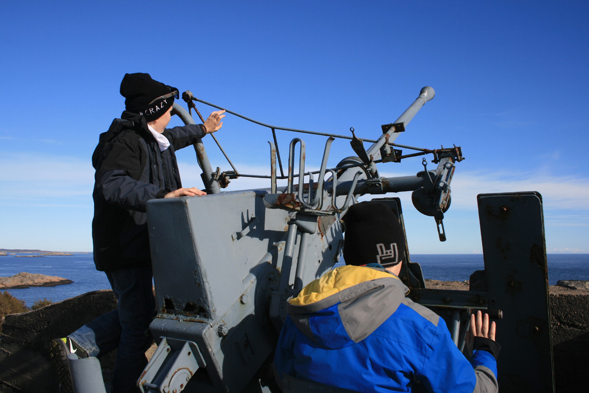 På kystfortet er mange av kanonene restaurert