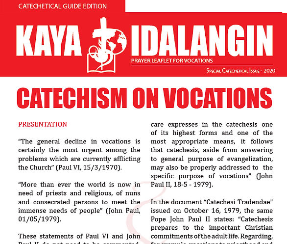"""PRVC releases """"Catechism on Vocations"""""""