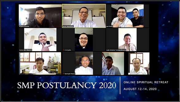 Incoming Postulants' Online Preparatory Retreat for their Formal Acceptance