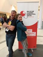 Paul Hooson and Melissa Aston 2018 Healthcare Clowning International Meeting, Vienna, Austria