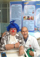 2018 Molly with hospital Chief of Staff at the first 'Cuban Congress of Therapeutic Clowns: Art and Health' in Havana, Cuba