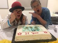 Cosmo got nosy with M.I.R.T.H. Unit's 25th anniversary cake.