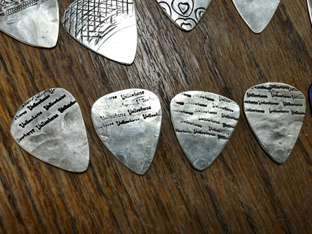 Hand Sculpted Forged Silver Guitar Picks by Yellowhorse