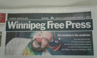 Winnipeg Free Press article cover page August 2018