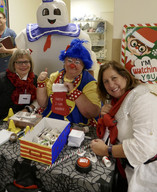 Molly and special guests at the CHEO Elves on Duty event