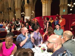 Class act at the Gala. Jamie, Cleve, Dav