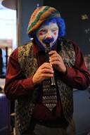 Hubert as jazz musician on Halloween
