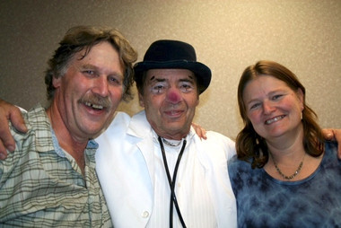 Paul, Dr. Stubs, Karen Ridd. Canadian Association of Therapeutic Clowns conference in Winnipeg, 2011