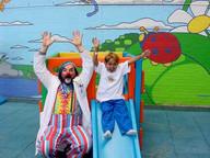 Joey and Onri at slide