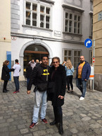 Olivier and Healthy Humour delegate 2018 Healthcare Clowning International Meeting, Vienna, Austria