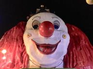 Big Clown face at the Prader Amusement Park 2018 Healthcare Clowning International Meeting, Vienna, Austria