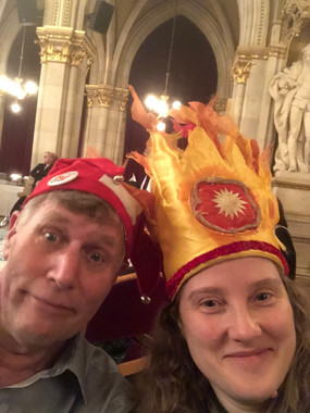Paul Hooson and Melissa Aston at the Gala 2018 Healthcare Clowning International Meeting, Vienna, Austria