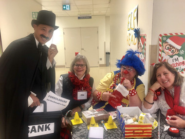 Foreclosure!! Molly and special guests at the CHEO Elves on Duty event