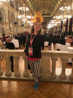 Melissa Aston at the Gala for the 2018 Healthcare Clowning International Meeting, Vienna, Austria