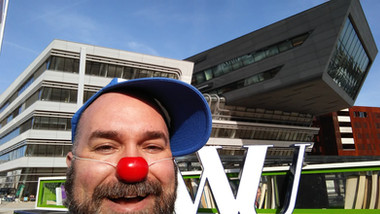 A. Leboo at the 2018 Healthcare Clowning International Meeting, Vienna, Austria