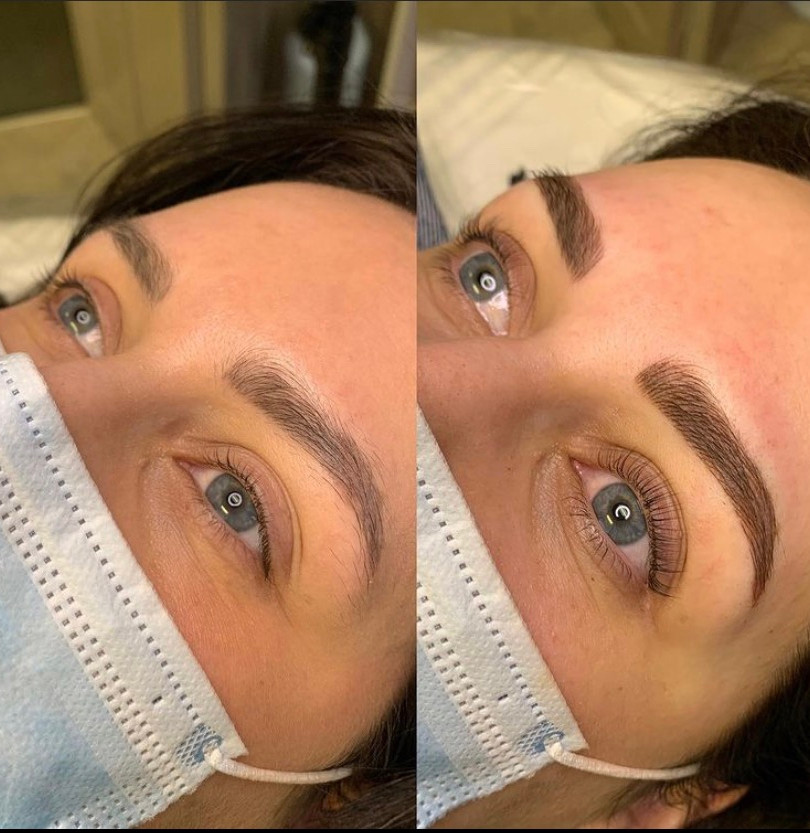 lash lift and microblading touch up