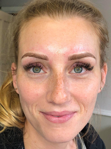 Microblading + Volume Lashes