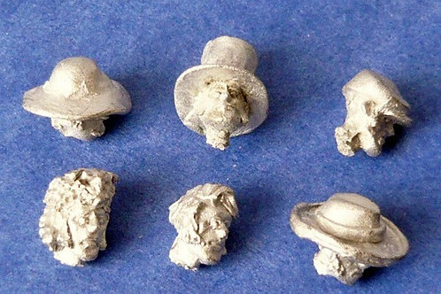 Six Texian heads