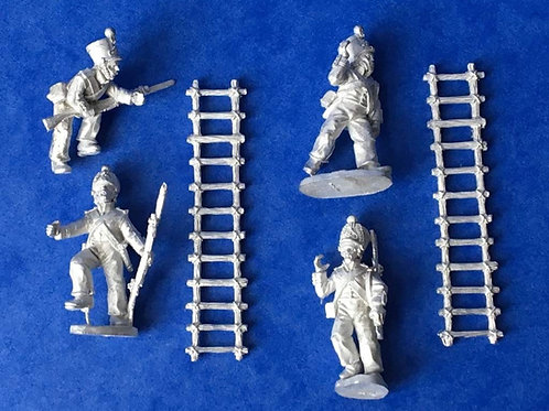 Mexican ladder carriers and climbers