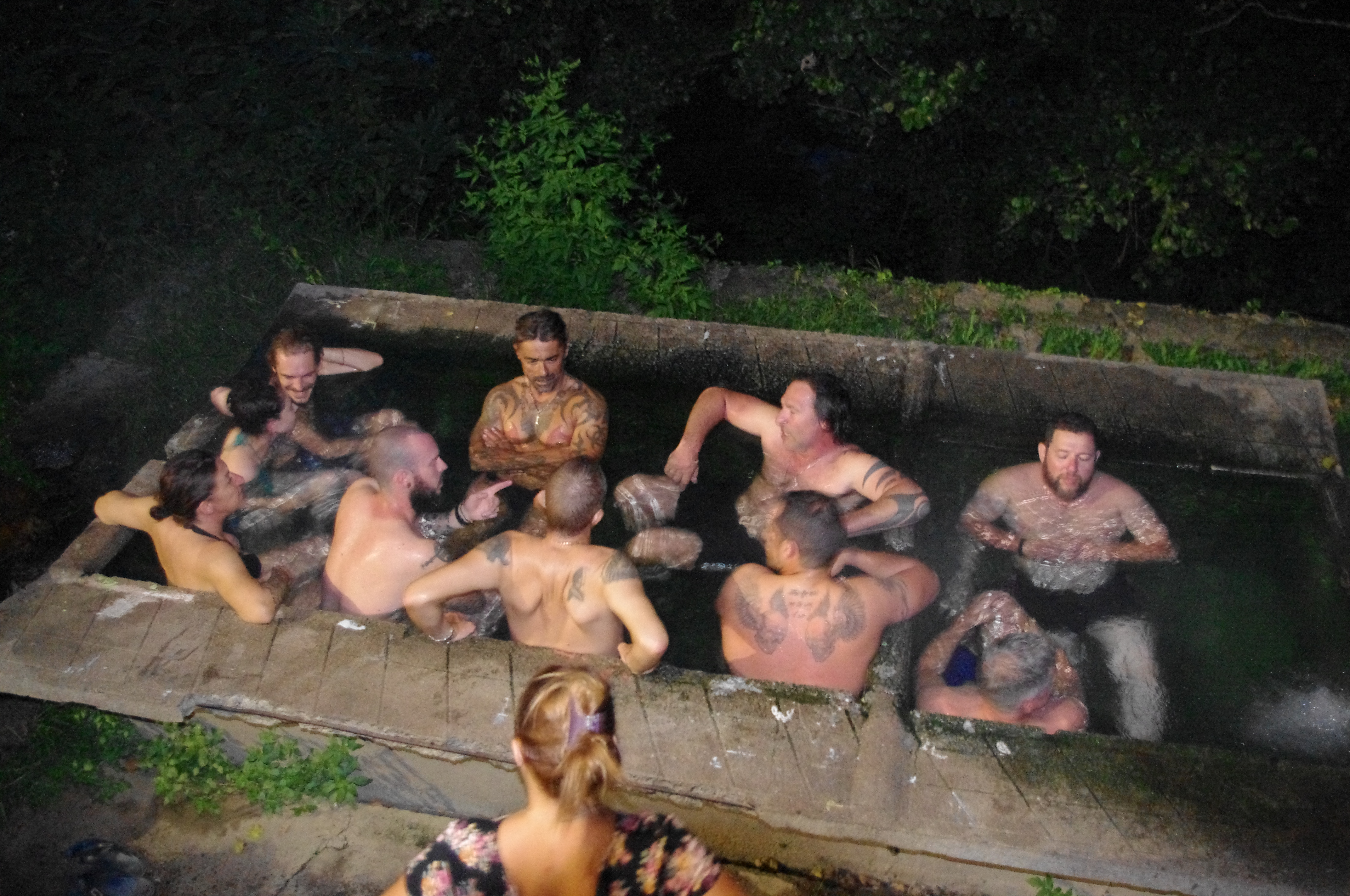 bain d'eau chaude
