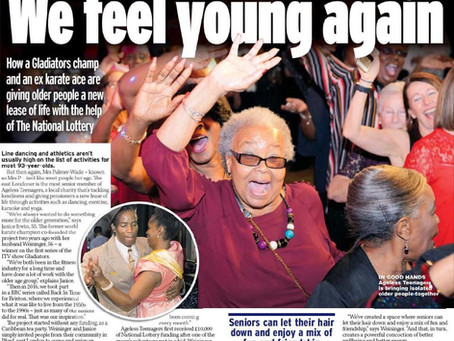 Ageless Teenagers feature in the Daily Mirror, Express & the Star