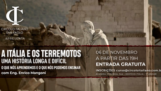 Palestra gratuita debate o impacto dos terremotos na Itália