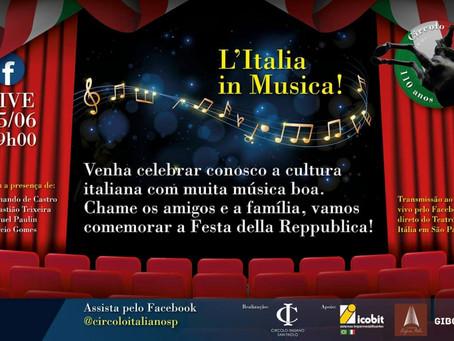Comemoração em homenagem ao aniversário da República Italiana