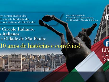 Circolo Italiano comemora 110 anos em live especial