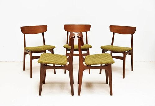 Lot de chaises danoise en Teck