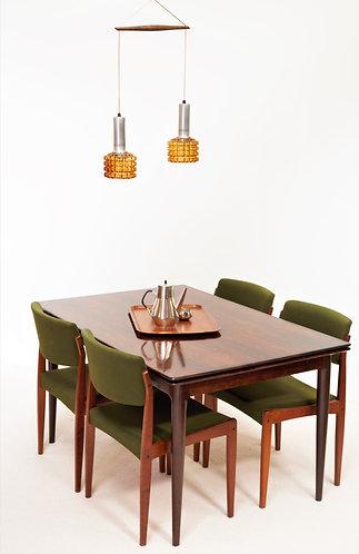 Table de salle à manger Mid-Century en Palissandre