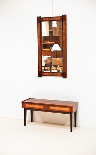Console et miroir en Palissandre