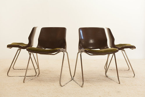 Chaises Vintage Overman