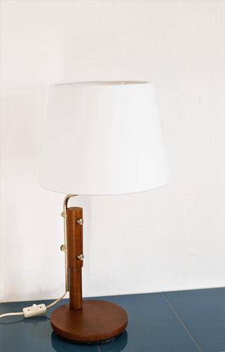Lampe Mid-Century en Teck