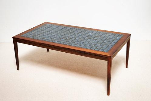 Table basse en Palissandre et céramique
