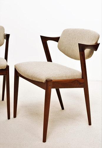 Paire de chaises Kai Kristiansen