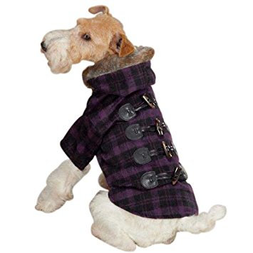 Plaid Toggle Dog Coat by Zack & Zoey
