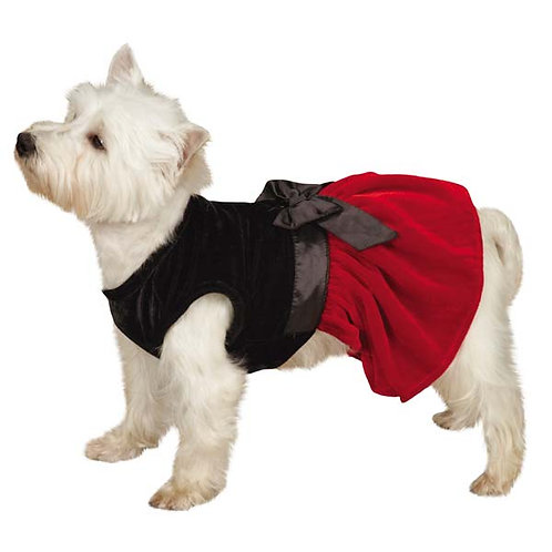 Red & Black Velour Dog Dress by Zack & Zoey