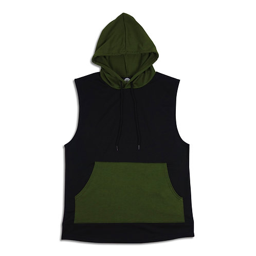 PRS French Terry Sleeveless Hooded Pullover