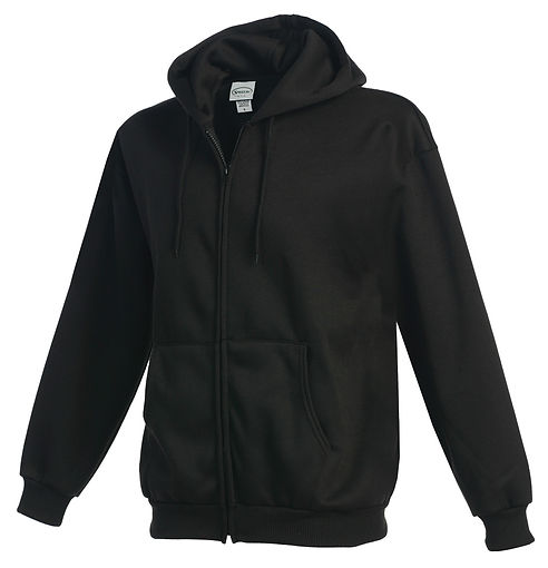 Blank basic fleece jacket made in USA