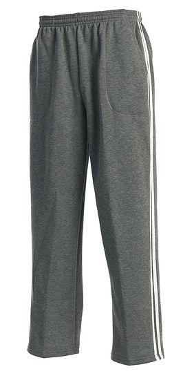 Fleece stripe sweatpants made in USA