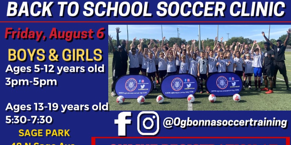 OGBONNA SOCCER TRAINING - BACK TO SCHOOL SOCCER CLINIC
