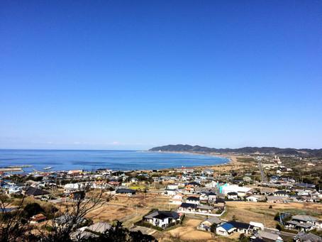 平砂浦海岸を一望