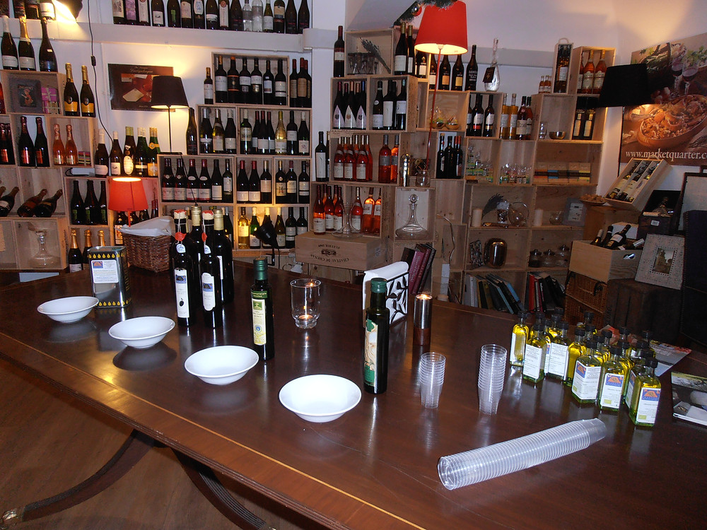 Italian olive oil tasting in London