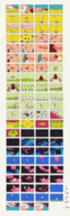 Yan Dan Wong Animation Semblance colour storyboard