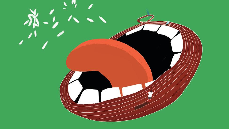 Yan Dan Wong Animation Race mouth spitting out food