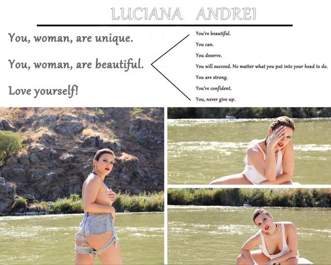 Tú, mujer, eres única. Tú, mujer, eres hermosa. Ámate a ti mismo!