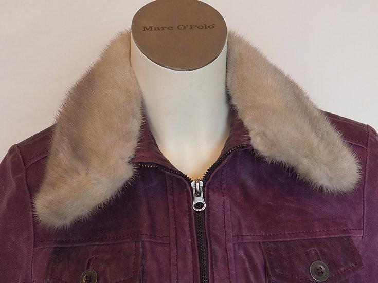 Dámská kožená bunda + límec NOREK