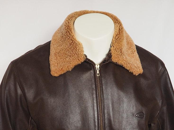 Pánská kožená bunda + límec BERAN