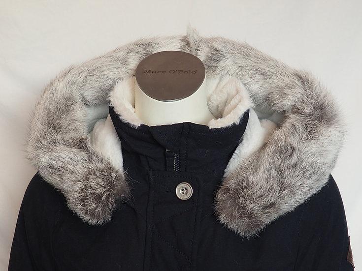 Dámský zimní kabát +límec stříbrný KRÁLÍK