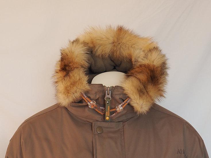 Pánská zimní bunda + lem VLČÍ KOŽEŠINA